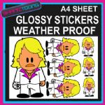 KEITH LEMON INSPIRED CARTOON CAR BUMPER WEATHER PROOF STICKERS MIXED SIZES